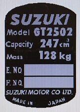SUZUKI GT250E X7 HEADSTOCK FRAME RESTORATION DECAL