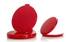 Flip 'N Beauty Folding LED Beauty Mirror Set of 2, Poppy Red