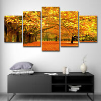 5Pcs Modern Art Oil Painting Canvas Print Wall Art Picture Cafes Office Unframed