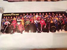 2010 Goodyear Nascar Drivers Class Poster 11x34
