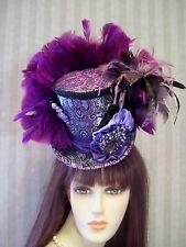 Steampunk Mini Top Hat, Purple Hat, Wedding Mini Top Hat, Tea Hat, Cosplay,