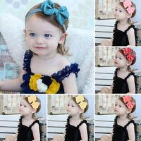 Newborn Baby Infant Girl Chiffon Bowknot Headband Hair Band HeadWear Photo Props