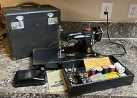 Singer 221 Featherweight Sewing Machine 1935 Case Manual Accessories Pedal Used