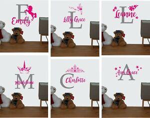 Custom Name Personalised Wall Sticker Nursery Girls Decal Baby Art Bedroom