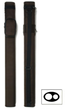 Delta 1x1 Rugged Nylon Macaron 1 Butt 1 Shaft Pool Cue Stick Case - Brown