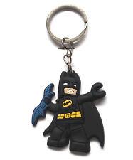 New Batman Lego Keyring Bagcharm Keychain Zip puller Rubber PVC UK Seller