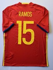 Sergio Ramos Spain Jersey 2015 2016 Home 15-16 y Youth Red Camiseta Adidas ig93
