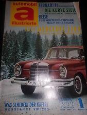 Zeitschrift Automobil a illustrierte 5.Januar 1964 Nr.1 Testbericht Mercedes 220