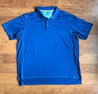 Adidas Climacool Golf Polo Shirt Mens Size 2XL Blue Short Sleeve