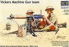 Masterbox Vickers Machine-Gun team North Africa soldiers Soldaten 1:35 Infanteri