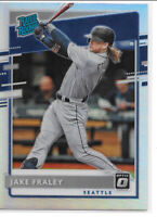 2020 Donruss Optic Jake Fraley Rated Rookie RC Holo SP Seattle Mariners, #80