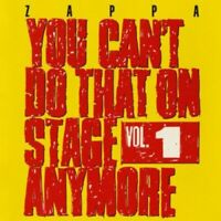 Frank Zappa - You Can't Do That On Stage Anymore, Vol. 1 [New CD] UK - Import