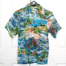 PRADA oversize tropical island fish floral print hawaiian bowling club shirt NEW