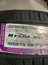 1 New 245 45 19 Nexen N'Fera AU7 Tire