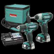 Makita Combo Kit Drill Driver and Impact Driver 12v Li-ion, charger & 2batteries