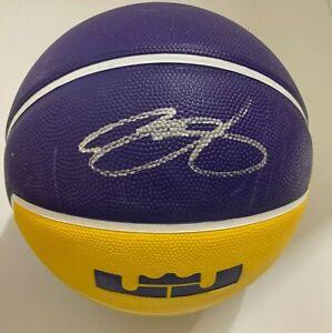 LeBron James Autographed Signed LA Lakers NIKE LOGO Basketball w/PROOF