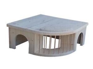 Meerschweinchenhaus Kleintierhaus mit Heuraufe Meerschweinchenhäuschen 80014