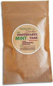 Dentin Toothpaste Tablets + Fluoride Natural Plastic Free Eco-Friendly Denttabs