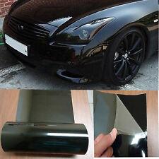 "12"" x 60"" Car Gloss Dark Black Smoked Headlight Taillight Tint Film Wrap Vinyl"