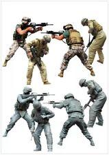 1/35 Scale Resin Model Figures Kit Modern US Marines In Battle (2 Figures)