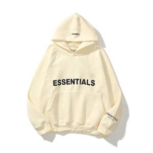 Sweatshirt FEAR OF GOD ESSENTIALS Hoodie Mens Womens High Street Sweater Top UK