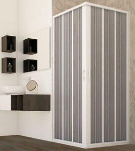 Box doccia angolare a soffietto, misura cm.60x60, riducibile su misura
