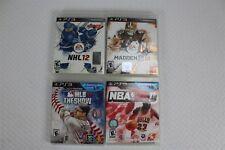 PS3 PlayStation 3 Games NBA 2K11 NHL12 Madden 12 MLB The Show 11 4 Pack