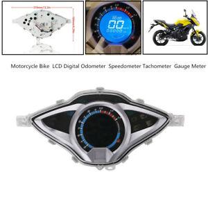 Motorcycle Bike LCD Digital Odometer Speedometer Tachometer Gauge Meter 199km/h