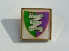 Suffragette Badge Brooch Suffragettes Shield in Square Post Free Within UK
