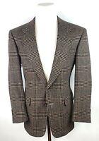 Vtg Hart Schaffner Marx Mens 38R Sport Coat Tweed Houndstooth Plaid 2 Button
