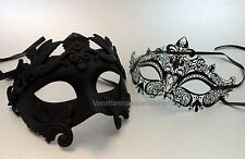 Couple Masquerade mask bachelor engagement graduation birthday surprise party