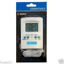 Termómetro Digital 2 vías Essentials/MIN Max Medidor de hidroponía