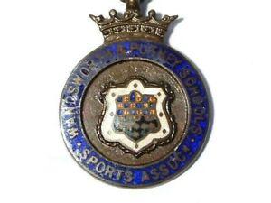 1926-7 Wandsworth & Putney Schools Football M Goodman Enamel Fob Medal #WP1