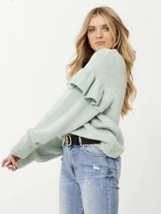 Decjuba Tabitha Frill Knit Jumper - Brand New - S Small Womens Cosy