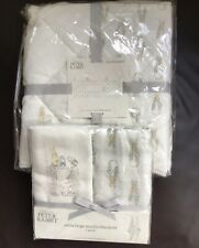 Mothercare Peter Rabbit Cot/Cot Bed Bumper & Pack 2 Extra Large Muslin Blankets