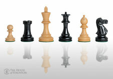 "USCF Sales The Grandmaster Chess Set - Pieces Only - 4.0"" King - Ebonized Boxwoo"