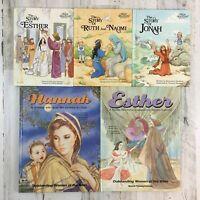 Lot 5 Christian HC Kids Books Alice in Bibleland Outstanding Women Bible Story