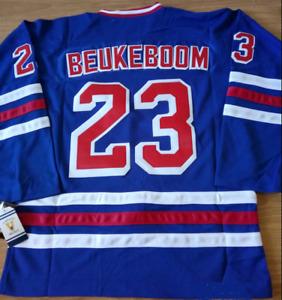 Rangers Blue Jeff Beukeboom Jersey M, L, XL, 2XL, 3XL