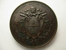 VATICANO MEDALLA ANUAL OFICIAL PAPA LEON XIII AÑO I 1878 - BRONZE