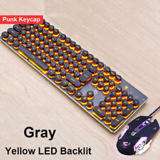 GB K100 Wired Usb PUNK Backlit Gaming Keyboard + 4000DPI Silent Gamer mouse Sets