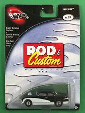 Hot Wheels 1/64 Diecast W/ Rubber Tires Rod & Custom Shoe Box Black MOC