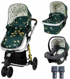 New Cosatto giggle 3 in 1 pram & pushchair in Birdland with car seat & raincover