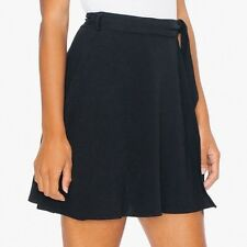 NWT American Apparel Navy(INDIGO) Wrap Demi Mini Skirt M/L Crepe Bow Tie $50