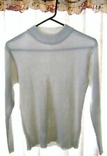 Women Winter White Color Long Sleeve Sweater,size XS