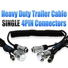 Heavy Duty Trailer Cable Suzy Coil 4PIN Connectors for Reverse Camera Truck
