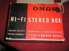 New listing O M G S Hi-Fi Stereo Box Speaker Model 444 w/ Original Box