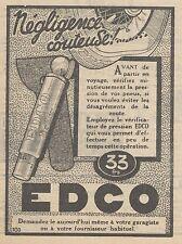 Z9118 EDCO vérificateur de pression -  Pubblicità d'epoca - 1928 Old advertising