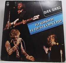 """BEE GEES : TO WHOM IT MAY CONCERN Vinyl LP Album 33rpm 12"""" EX USA Pressing"""