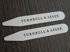 TURNBULL & ASSER SHIRT COLLAR STIFFENERS STAYS BONE 6.3CM x 0.9CM BRAND NEW
