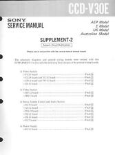 Sony Original Service Manual complemento per CCD-V 30e 2 Supplement